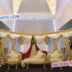 Asian Muslim Wedding Crystal Stage Decorations