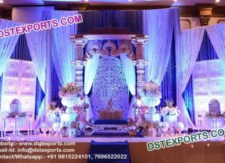 Ancient Bollywood Style Wedding Stage Set