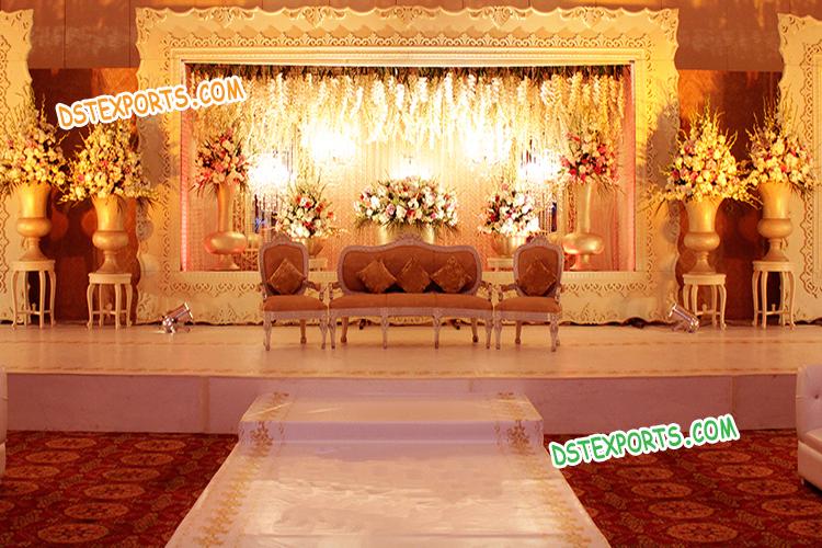 Best Wedding Stage Decoration Backdrop Frames Mandap Exporters