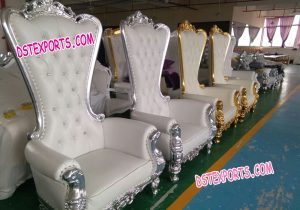 Big Back Bride & Groom Wedding Chair set