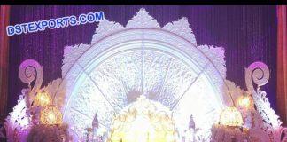 Half Moon Wedding Stage Back Frame Screen