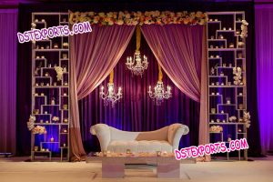 Modern Style Wedding Stage Candle Backdrop