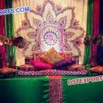 Pakistani Wedding Mehandi Stage Set