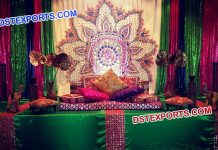 Pakistani Wedding Mehandi Stage Set