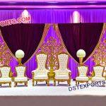 Wedding Bride Groom Stage Chairs PL9491