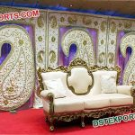 Wedding Embrodried Paisley Style Back Drop