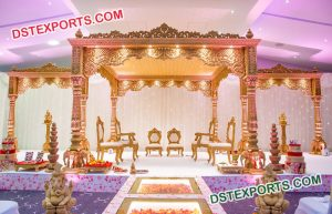 Small Elephant Pillars Wedding Mandap