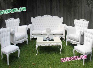 Indian Wedding White Furniture