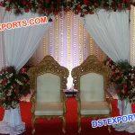 Brass Metal Bride & Groom Wedding Chairs
