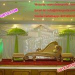 Asian Muslim Mehndi Stage Umberellas Decor