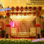 Asian Wedding Leather Crystal Fitted Stage Decor