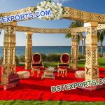 Gold Indian Wedding Mandap