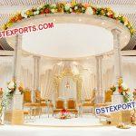 Hindu Wedding Decor Wooden Mandap