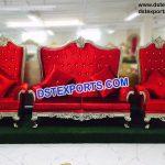 Hindu Wedding Silver Metal Sofa Set PL9634