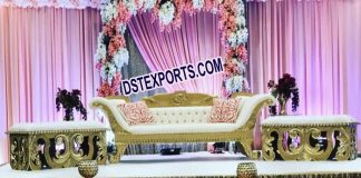 Latest Design Wedding Sofa With Automans PL9696