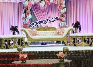 Latest Design Wedding Sofa With Automans PL9696