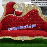 Modern Art Wedding Carved Sofa Chaase PL9654