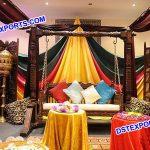 Muslim Wedding Teak Wood Jhula Swing