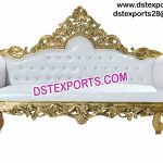 Asian Muslim Wedding Gold Sofa Love Seat