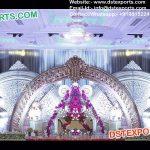 Stylish HalfMoon Wedding Stage Back Frames Walls