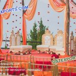 Wedding Mandap Low Chairs Set