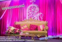 Wedding Stage Embrodried Paisley Design Backdrop