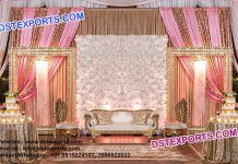 Latest Wedding Stage Set With Flower Wall