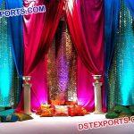Glitering Backdrop For Mehndi Event