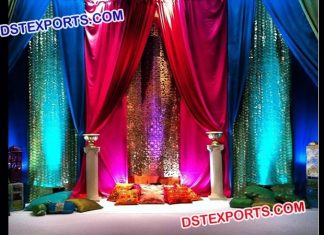 Glitering Backdrop For Mehndi Event