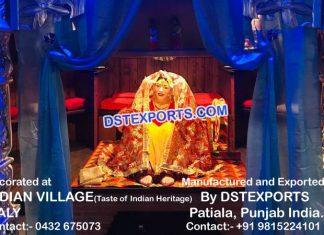 Punjabi Dulhan Fiber Statue For Hotel