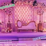 Royal Look Wedding Stage Candle Back Wall