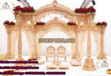 Wooden Carved Indian Wedding Swan Mandap