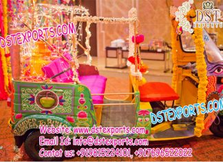 Decorative Open Auto Rickshaw for Bride Groom Entry