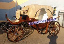 English Wedding Brown Horse Carriage