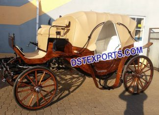English Wedding Brown Horse Carriage