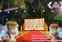 Haldi Ceremony Stage Decoration With Flower Pots