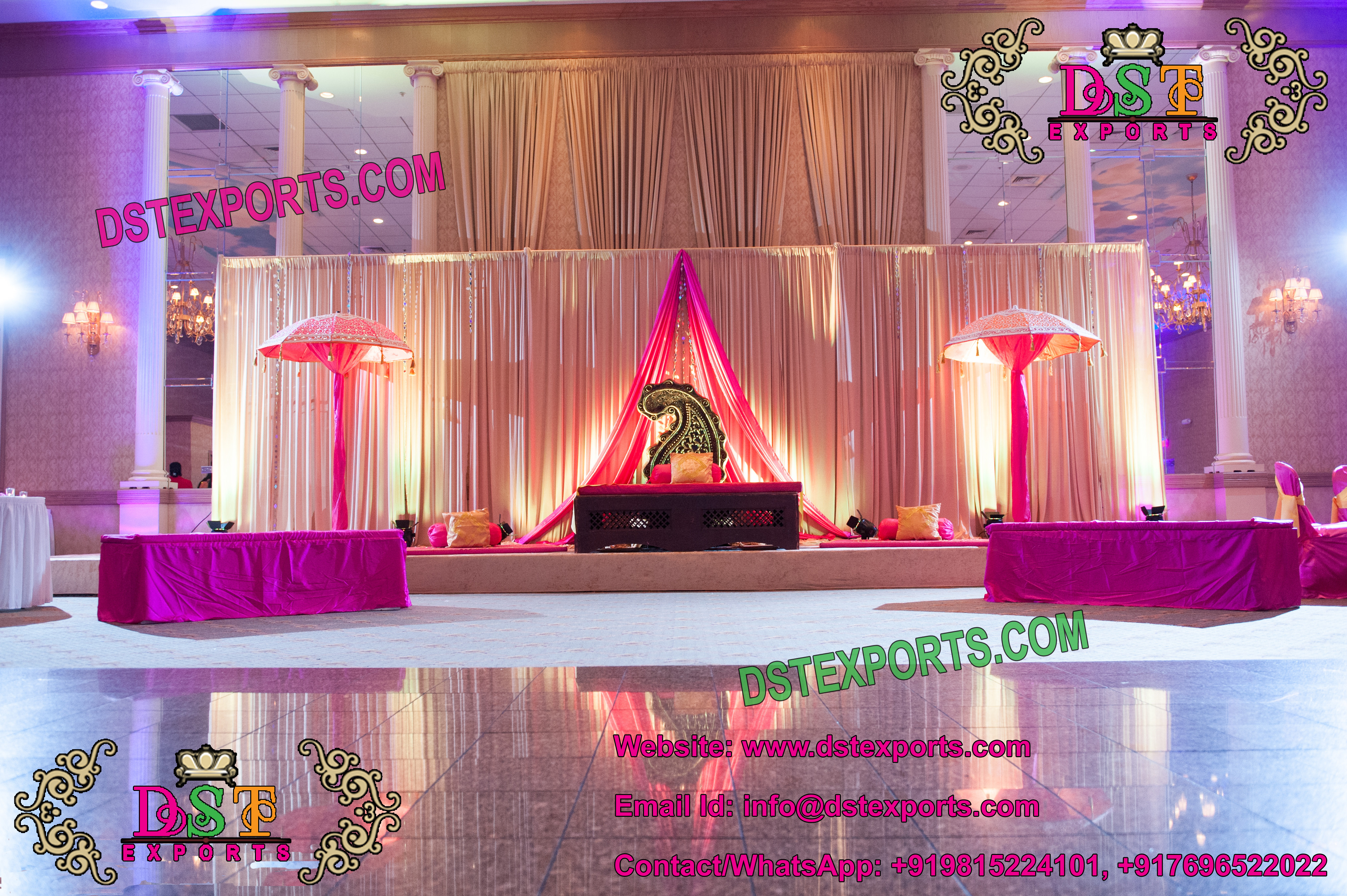 Moroccan Asian Wedding Mehandi Stage – Mandap Exporters