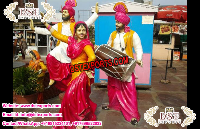 Bisakhi Punjabi Culture Bhangra Statues