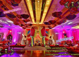 Mehandi Ceremony Decoration With Umbrellas