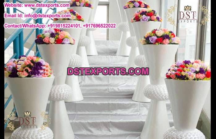 Mandap Exporters & Wedding Decoration White Flower Pots \u2013 Mandap Exporters