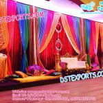 Asian Wedding Mehandi Stage Set