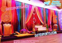 Asian Wedding Mehandi Stage Set