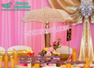 Crystal Table Center piece Umbrella