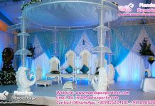 Indian Wedding Peacock Style Crystal Mandap
