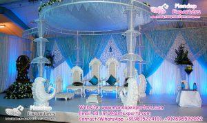 Indian Wedding Peacock Style Crystal Mandap