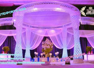 Latest Diamond Cut Delizio Crystal Mandap