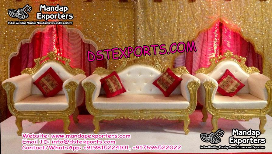 Indian Wedding Stage Furniture Set
