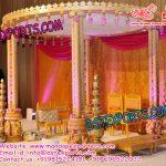 Indian Wedding Triple pole Wooden Ganesha Mandap
