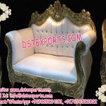 Latest Designed Wooden Metal Carved Wedding Sofa Set