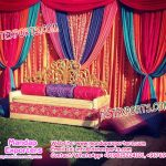 Mehandi Stage Decoration Idea in Open Garden
